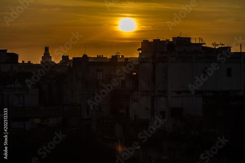 Aluminium Havana Cuban sunset, Havana, Cuba