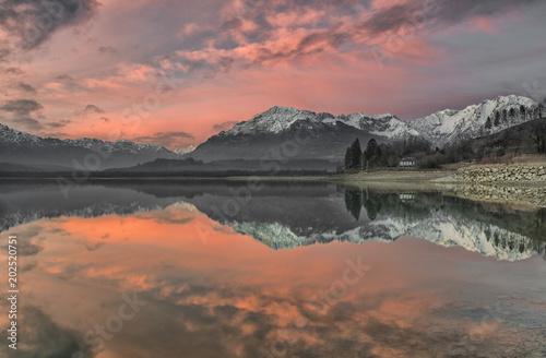 Plexiglas Zalm Lago di Santa Croce