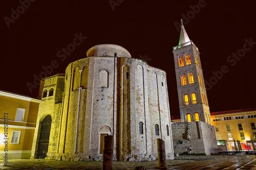 Beautiful Zadar at night, Croatia