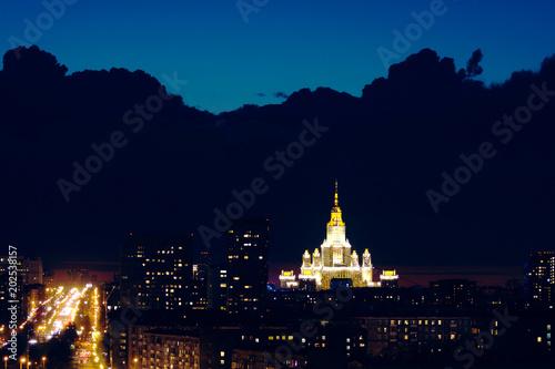 Plexiglas Moskou Night cityscape of Moscow.