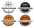 Basketball Designs With Team Name is an illustration is an illustration of a four versions of a basketball design that can be used for t-shirts, flyers, ads or anything else.