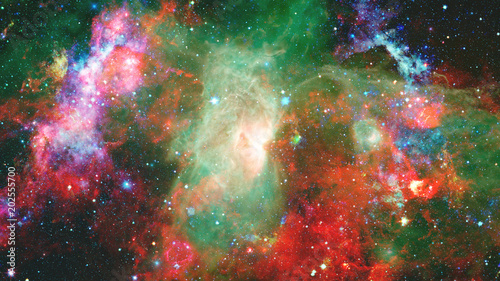 Fototapeta Nebula and stars in deep space, mysterious universe. Elements of this image furnished by NASA.