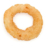 Crispy deep fried onion or Calamari ring isolated on white background - 202557708