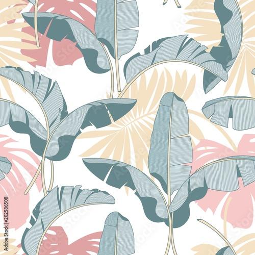wektorowy-bezszwowy-tropikalny-liscia-wzor