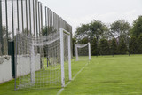 Empty football/soccer goal in a training camp