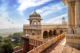 Historic Agra Fort with view of Musamman Burj dome. Agra Fort is a UNESCO world heritage site at Agra India  - 202607771