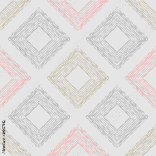 Seamless colorful Squares Pattern. Vector Illustreation eps10 - 202607942