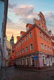 old houses on Riga street. Latvia
