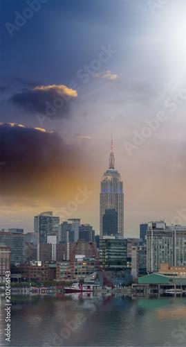 Plexiglas New York Beautiful view of skyline of Manhattan