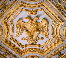 "Постер, картина, фотообои ""Double headed Eagle emblem of the Habsburg Empire, in the Church of Santa Maria dell"