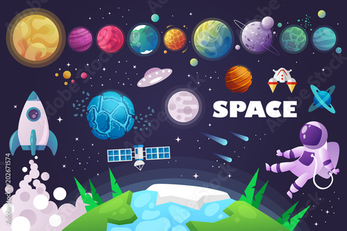 universe. space. space trip. design. vector illustration - 202671574
