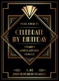 Geometric Gatsby Art Deco Style Birthday Invitation Design - 202696506