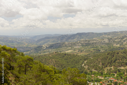 Plexiglas Cyprus Landscape with views of the mountains, forests, plains of the island of Cyprus
