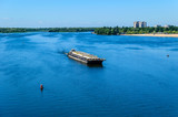 Oil product tanker barge on river Dnieper - 202713769