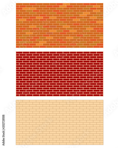 Brick wall set texture graphic design with copy space for text. - 202728108