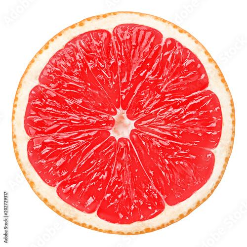 czerwony grejpfrut, ścieżki przycinającej, na białym tle