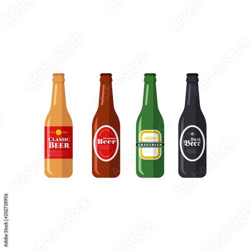 Fototapeta Beer Bottles Vector Icons