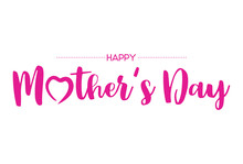 Happy Mother's Day Lettering Sticker