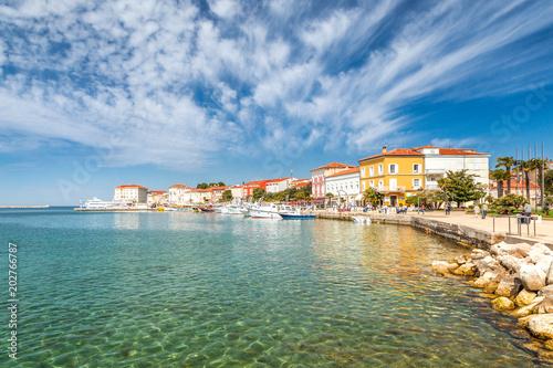 Leinwanddruck Bild Porec town and harbor on Adriatic sea in Croatia, Europe.