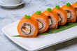Philadelphia roll with salmon