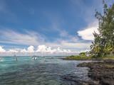 Beach on Mauritius island - 202795988