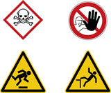 Gefahr Hinweis Schild Baustelle  - Risiko Warnschild  - 202800137
