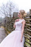 wedding photo session of the bride in the nature - 202816590