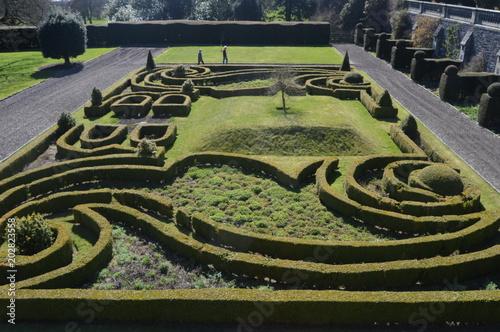 Plexiglas Rijstvelden Balcarres Garden, Fife, Scotland, April 2018