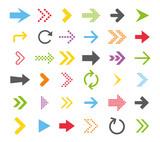 Arrow icon collection. Vector - 202823947