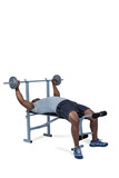 Fit man exercising with barbell  - 202830726