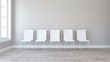 Row of chairs in Empty Room