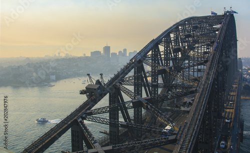 Aluminium Sydney Beautiful view of sydney harbour bridge - Australia