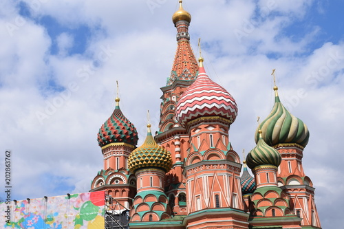Plexiglas Moskou domes of the cathedral on the Red Square in Moscow