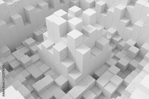 Abstract background of cubes. 3D rendering. © dekzer007