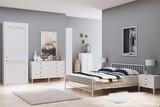 Blick auf ein Bett in einem Schlafzimmer - 202882549
