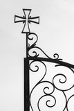 Detail of the wrought iron gate of an orthodox church, Creece - 202896996