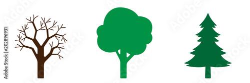 Symbol-Set - Bäume - 202896931