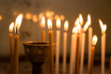 Close up of candles in a church - 202897763