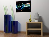 Canvas interior concept with abstract picture - 3D rendering