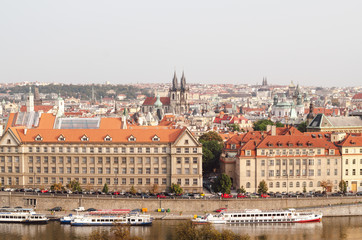 View on Prague cityscape