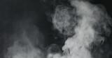 vapor steam rising over black background - 202910966