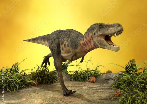 Fototapeta 3D Rendering Dinosaur Tarbosaurus