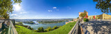 Koblenz, Blick von der Festung Ehrenbreitstein über Rhein, Mosel und die Stadt Koblenz  - 202926709