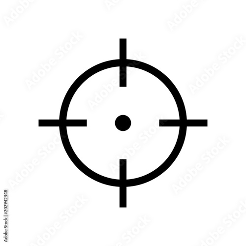 Target icon isolated on a white background, vector illustration stylish for web design