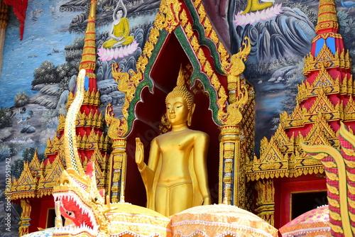 Plexiglas Boeddha Golden Buddha Image Respect for Buddhism