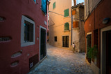 The streets of the old town of Porec. Croatia.
