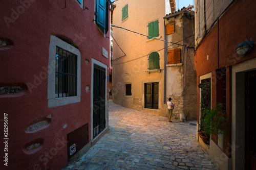 Fototapeta The streets of the old town of Porec. Croatia.