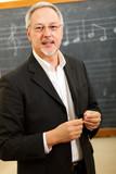 Music teacher smiling - 202969516