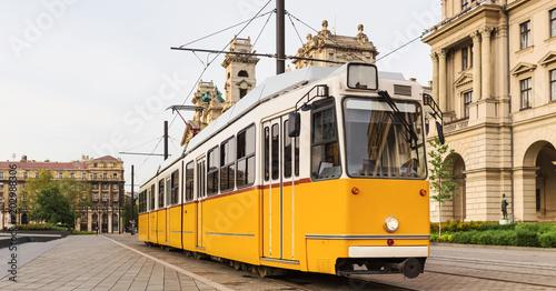 plain tram in budapest hungary