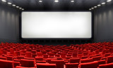 Movie Theater With Blank Screen And Red Seats - Cinema  - 202993998